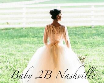 Adult Tulle  Skirt Wedding Tutu Women's Full Length Ballroom Style Ivory Bridal Tutu Skirt  Ladies 8-14