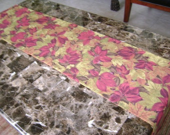 Fall Leaves Table Runner With Pointed Ends 70 Inche Long