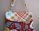 SPRING CLEARANCE - Medium Purse with Dewberry Notting Hill Fabrics-ready to ship