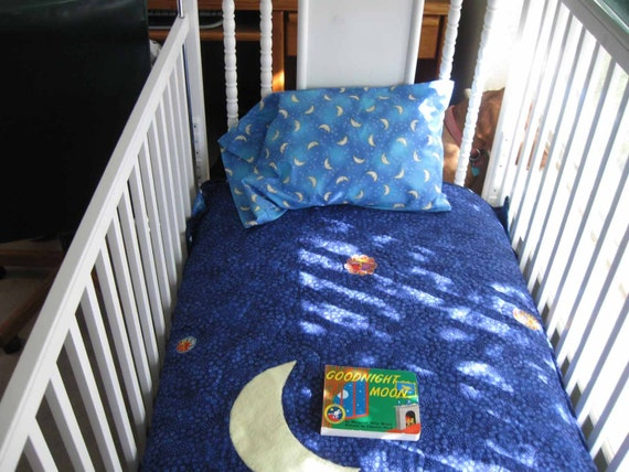 Goodnight Moon Crib Set by QuiltedByKaren