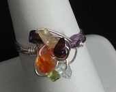 Custom Request for Kneadymom -Chakra Twist Silver Ring -  Reiki Infused