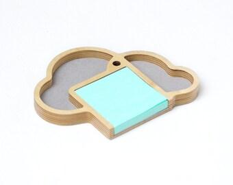 Makin it Rain Sticky Note Organzier desktop organizer, desk caddy, pen holder, tray made out of Baltic Birch
