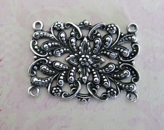 Ornate Silver Finding 3548