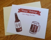 Hoppy Holidays - Beer Lover's - Single 4x5 Notecard