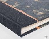 Photo Album  Black Mango Leaf w Copper -Wedding Photo Album, Guest Book ,Scrapbook, Art Journal, Photo Booth Album