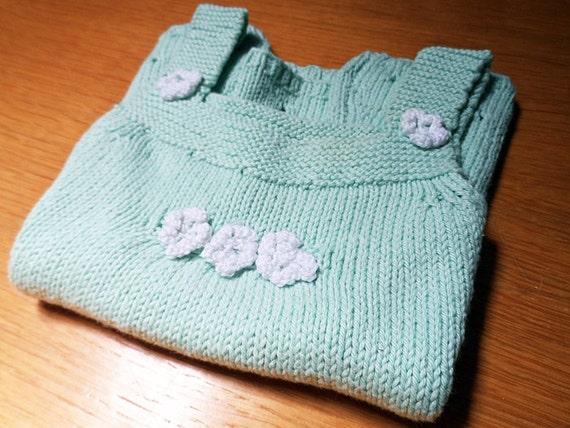 Knitted Pinafore Dress Pattern Free : Tiny flower pinafore dress knitting pattern free bonus by ...