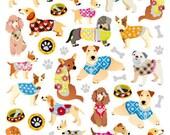 Dogs In Sweaters Stickers • Pet Lover • Pet Sticker • Dog Sticker • Dog Birthday • Dog Birthday Party • Kawaii Sticker (SK4525)