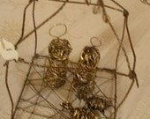 Wire Wrapped Nativity with Mary, Joseph, and Baby Jesus