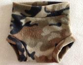 Camouflage Fleece Diaper Cover