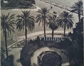 antique Italian Napoli 1920s Rotogravure Photo Illustration To Frame