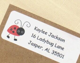 Ladybug  Address Labels - 90 Labels