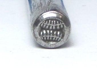 BaseBall steel design stamping for team jewelry jewelry stamping hand stamping aprox 5.5mm
