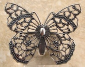 Filigree Butterfly, Antique Silver, Trinity Brass AS287