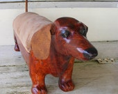 Red Dachshund Footstool