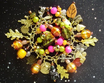 Autumn Fantasy Charm Bracelet