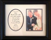 Father of the Bride, Custom Wedding Gift, Personalized Picture Frame, Of All The Walks, Dad, Framed