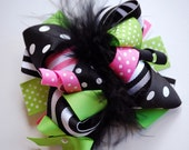 NEW boutique M2M Mudpie CAT tutu Halloween funky fun bow on clip or headband