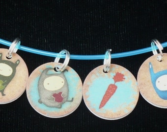 STITCHMARKERS for KNITTERS or CROCHETERS, Ninja Bunnies