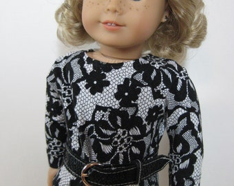 18 inch Doll Clothes American Girl Lace Look Dress with Belt