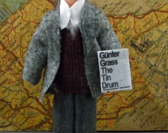 Gunter Grass Doll Miniature Author German Writer Literary Art Character
