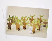 Hide and seek - Greeting Card - Paper Diorama