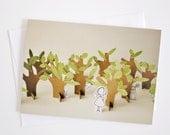 Hide and seek - Greeting Card - Paper Diorama