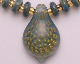 EMBLEM Lampworked Borosilicate Glass Necklace