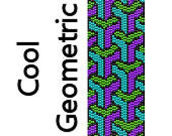 Peyote Bracelet Pattern Cool Geometric Shapes Stack Instant Download Delica Seed Bead Pattern