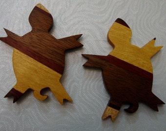 Turtle Pendant Fetish Embellishment Handmade from Reclaimed Woods