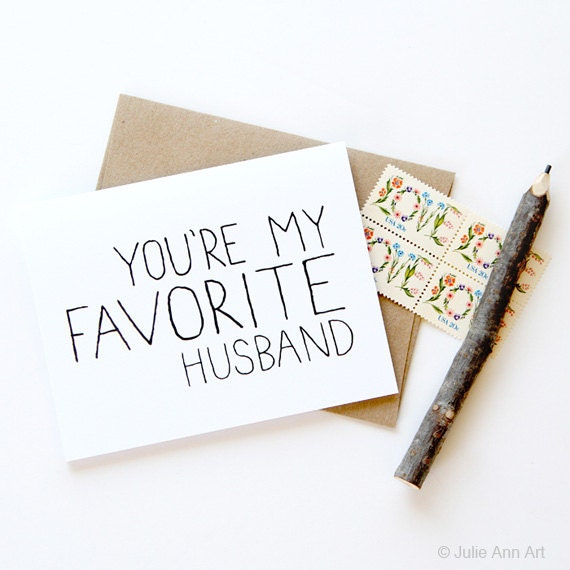 Love Card - Husband Card - You're My Favorite Husband