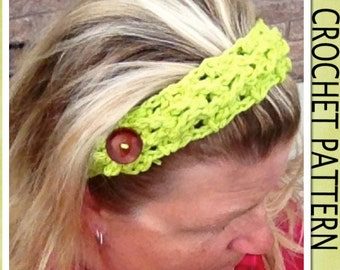 PDF Crochet Pattern - The Braided Adjustable Headbands  ~ 3 Widths/6 Sizes