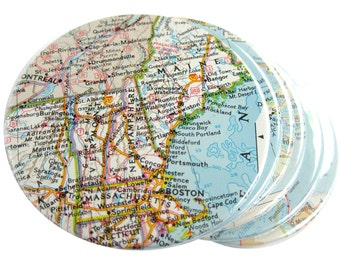 Map Coasters // Choose Your Own Set of 6