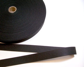 Black Elastic Band 1 1/8 inches wide x 3 yards, Heavy Duty Elastic
