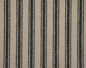Vintage Inspired Hunter Green Cotton Ticking Stripe Material 1 Yard