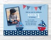 Sailboat Birthday Invitat...