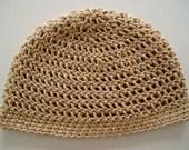 Tan Hemp Organic Cotton ALL-WEATHER  Beanie