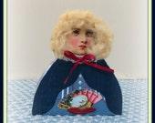 Bailey Handmade Mixed Media Victorian Collage Shelf Sitter Art Doll Decoration