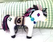 PONY PLUSHIE -- Horse Toy -- Horse Plush -- Pony Plush -- 6 Year Old -- Soft Horse -- Fabric Horse -- Valentine Gift