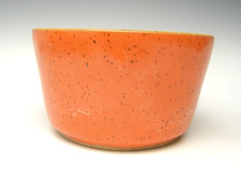 Stoneware succulent planter pot orange cactus planter bonsai planter ceramic planter pottery herb plant pot 6  x 3 1/4  T-2