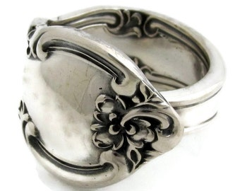 Spoon Ring Size 5-10 American Classic Easterling 1944 Solid Sterling SIlverSpoon Ring
