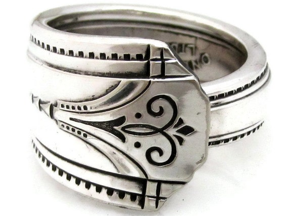Art Deco Spoon Ring Choose Your Size Mighty Thor