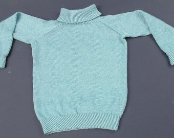 Sky Blue Classic Cowl Sweater
