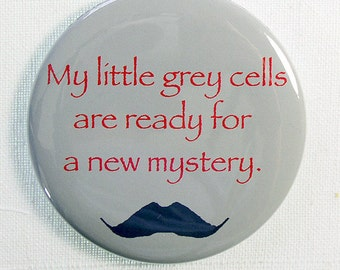 Gift for Poirot Fans, Poirot Mustache Fridge Magnet, Fridge Magnet for Mystery Lovers