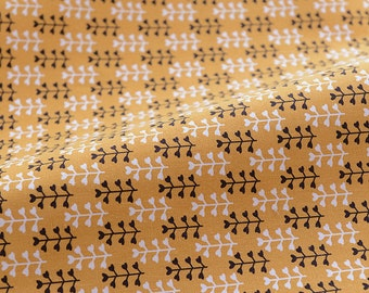 3726 - Retro Flower Cotton Linen Blend Fabric - 57 Inch (Width) x 1/2 Yard (Length)