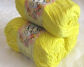 Creme de la Creme Cotton Yarn, Bright SUNSHINE Yellow, worsted weight