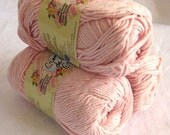Creme de la creme PALE PINK 100% cotton Yarn, worsted weight discloth cotton