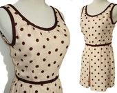 Vintage 40s Playsuit Romper Polka Dot Bathing Suit Charles Nudelman S