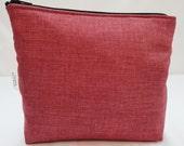 Zipper Pouch Cosmetic Bag - Raspberry Cream