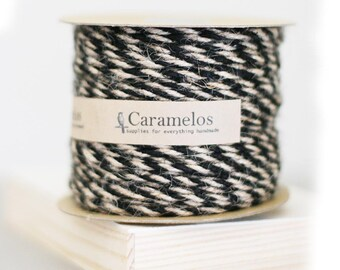 Natural and Black Jute Twine twisted cording 50 yards