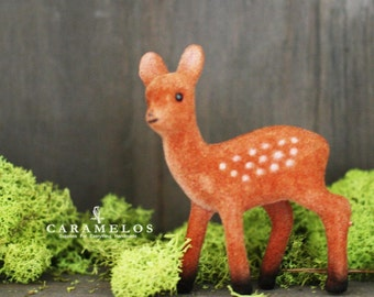 Flocked Deer Fawn